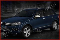 Нижний молдинг стекла (6 шт, нерж) Carmos - Турецкая сталь Volkswagen Touareg (2010+)