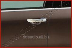 Накладки на ручки (4 шт, нерж.) Carmos - Турецкая сталь Volkswagen Touareg (2010+)