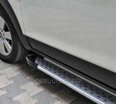 Боковые площадки X5-тип (2 шт, алюм) Volkswagen Touareg (2010+)