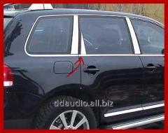Накладки на стойки (6 шт, нерж) OmsaLine - Итальянская нержавейка Volkswagen Touareg (2010+)