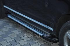 Боковые площадки X5-тип (2 шт, алюм) Volkswagen Touareg (2002-2010)