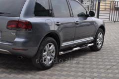 Боковые трубы (2 шт, нерж) Volkswagen Touareg (2002-2010)