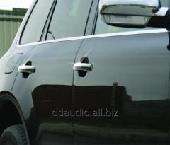 Накладки на ручки (4 шт, нерж) Carmos - Турецкая сталь Volkswagen Touareg (2002-2010)