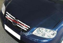 Накладки на решетку (6 шт, нерж) Volkswagen Polo (2001-2009)