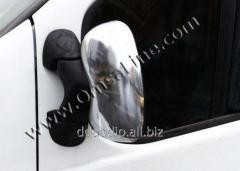Накладки на зеркала (2 шт) Carmos - Турецкая сталь Opel Vivaro (2001-2015)