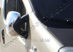 Накладки на зеркала (2 шт) Carmos - Турецкая сталь Nissan Primastar (2002-2014)