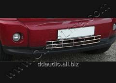 Хром решетка в бампер (нерж) Dodge Nitro (2007+)