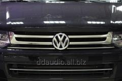 Накладки на решетку (Omsa, 4 шт, нерж) Volkswagen T5 рестайлинг (2010-2015)