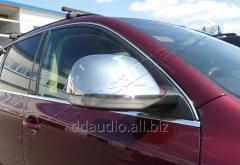 Накладки на зеркала 2008-2010 ( 2 шт, нерж) Carmos - Турецкая сталь Volkswagen Touareg (2002-2010)