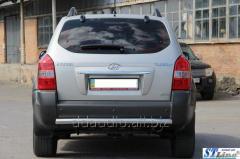 Задняя дуга AK002 (нерж.) Hyundai Tucson JM (2004+)