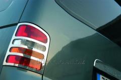 Накладки на фонари задние (2 шт, нерж) OmsaLine - Итальянская нержавейка Volkswagen T5 Caravelle (2004-2010)