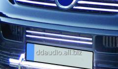 Накладки на решетку бампера (2 шт, нерж) Volkswagen T5 Transporter (2003-2010)