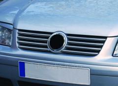 Накладки на решетку (8 шт, нерж) Volkswagen Bora (1998-2004)