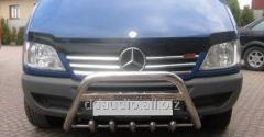 Накладки на решетку широкие (2002-2006, 6 частей, нерж) Mercedes Sprinter (1995-2006)