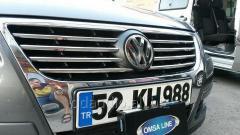 Накладки на решетку (8 шт, нерж) OmsaLine - Итальянская нержавейка Volkswagen Passat B6 (2006+)