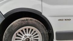 Накладки на колесные арки (4 шт, черные) Черные Nissan Primastar (2002-2014)
