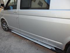 Боковые площадки X5-тип (2 шт, алюм) Длинная база Volkswagen T5 Multivan (2003-2010)
