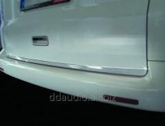 Кромка багажника (нерж.) Распашные двери Volkswagen T5 Caravelle (2004-2010)