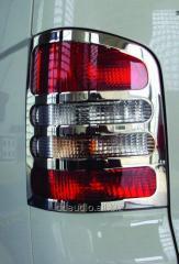 Накладки на стопы (2 шт, нерж) OmsaLine - Итальянская нержавейка Volkswagen T5 рестайлинг (2010-2015)