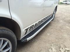 Боковые площадки Fullmond (2 шт., алюминий) Короткая база Volkswagen T6 (2015+)