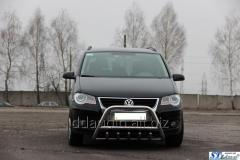 Кенгурятник WT003 (нерж) 51 мм, без надписи Volkswagen Touran (2010+)
