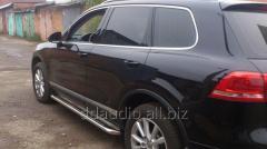 Боковые площадки Premium (2 шт, нерж) 42 мм Volkswagen Touareg (2010+)