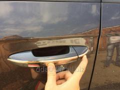 Накладки на ручки узкие (4 шт, нерж.) OmsaLine - Итальянская нержавейка Volkswagen Touareg (2010+)