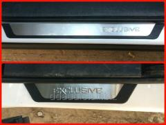 Накладки на пороги Exclusive (4 шт, нерж) Range Rover Vogue III L322 (2002-2012)