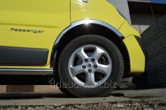 Накладки на колесные арки (4 шт, нержавейка) Renault Trafic (2001-2007)