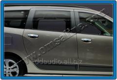 Накладки на ручки (4 шт, нерж.) Carmos - Турецкая сталь Dacia Lodgy (2013+)