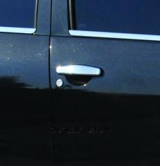 Накладки на ручки (4 шт., нерж.) Carmos - турецкая сталь Dacia Sandero (2007-2013)