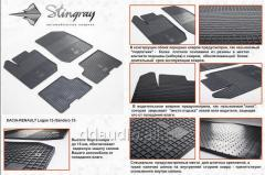 Резиновые коврики (4 шт, Stingray) Premium - без запаха резины Dacia Sandero (2013+)