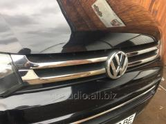 Накладки на решетку раздельные (Carmos, 4 шт, нерж.) Volkswagen T5 рестайлинг (2010-2015)