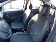 Авточехлы Экокожа+Ткань Dacia Logan III (2013+)