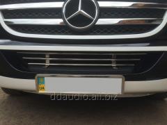 Решетка в бампер (нерж) Mercedes Sprinter (2006+/2013+)