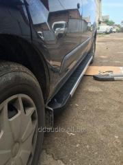Боковые площадки RedLine V1 (2 шт., алюминий) Ford Custom (2013+)