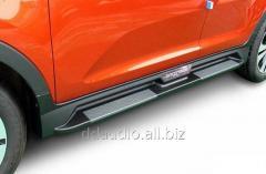 Боковые площадки Niken-style S101 (2 шт., алюм.) Kia Sportage (2010-2015)