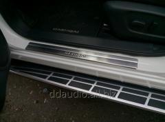 Накладки на пороги (Omsa, 4 шт, нерж.) Nissan Qashqai (2014+)