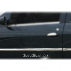 Молдинг дверей (4 шт, нерж.,) Carmos - Турецкая сталь Dacia Logan II (2008-2013)