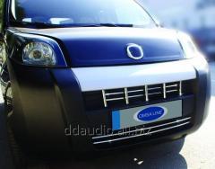 Накладка на решетку (15 част, нерж) Peugeot Bipper (2008+)