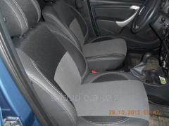 Авточехлы из экокожи и ткани Dacia Logan II (2008-2013)