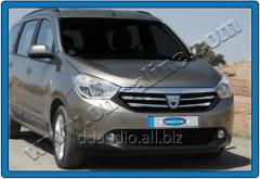 Накладки на решетку (4 шт, нерж.) Renault Lodgy (2013+)