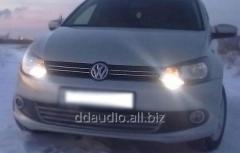 Накладки на решетку HB (2 шт, нерж) Volkswagen Polo (2009+)