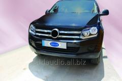 Накладки на решетку (широкие полоски, 4 шт, нерж) Volkswagen Amarok