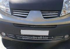Накладки на нижнюю решетку (6 шт, нерж) Renault Trafic (2007-2015)