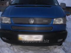 Накладки на решетку в бампер (4 шт, нерж) Volkswagen T4 Caravelle/Multivan