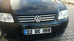 Накладки на решетку Life (6 шт, нерж) Volkswagen Caddy (2004-2010)