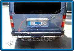 Накладка на задний бампер OmsaLine (нерж) Ford Connect (2002-2006)