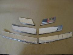 Накладка на переднюю решетку (нерж.) Dacia Sandero (2007-2013)