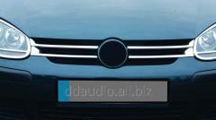 Накладки на решетку узкие (4 шт, нерж) Volkswagen Golf 5